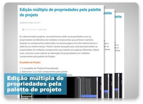 Edição múltipla de propriedades pela palette de projeto