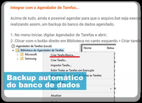 Backup automático do banco de dados