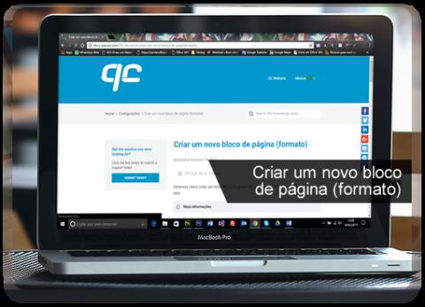 Base de Conhecimento: Criar um novo bloco de página (formato)