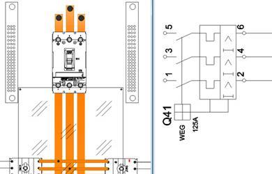 Layout painel totalmente integrado com o projeto esquemático